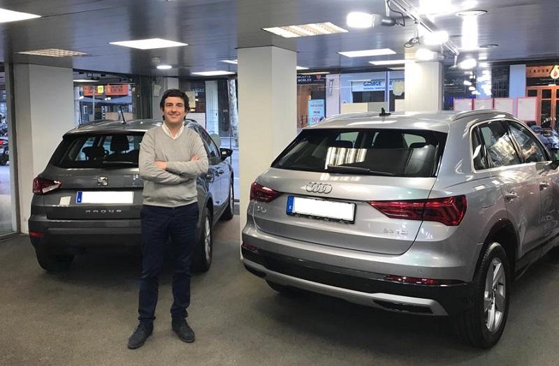 Esteban Tomás, presidente de ASEVAS en las instalaciones de Letamendi Motor.
